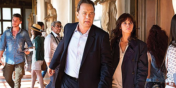 Big stars Tom Hanks (left) and Felicity Jones in Inferno, which failed to make a splash at the box office