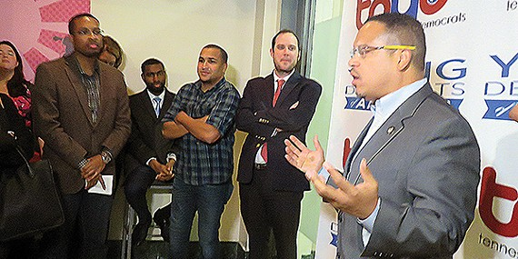 Keith Ellison with Young Democrats