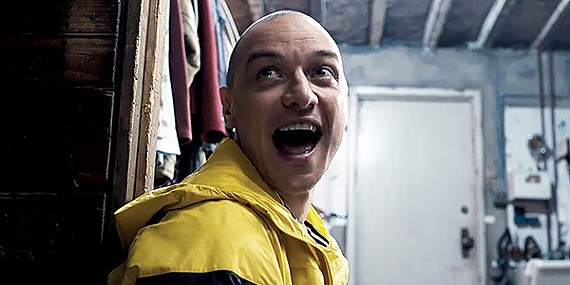 James McAvoy as Dennis (and 23 other personalities) in Split