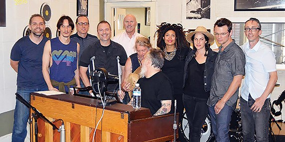 (from left to right) Kevin Houston, Cody Dickinson, Ken Steorts, Bryan Hayes, Steve Dunavant, Jimbo Mathus, Rick Steff, Valerie June, Amy LaVere, Luther Dickinson, and John Paul Keith