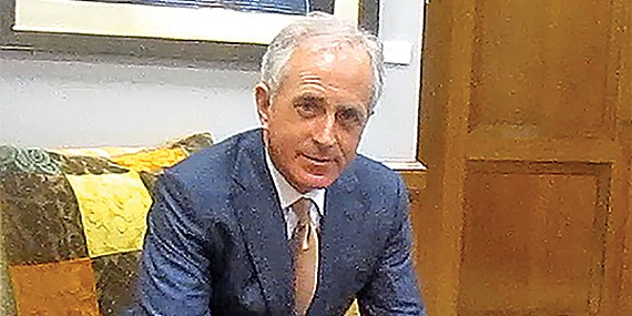 Corker in 2011, discoursing on Afghanistan