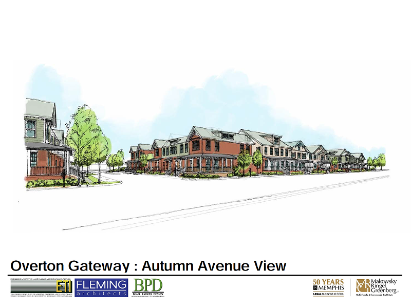 Conceptual view of Overton Gateway South from Autumn Ave - MAKOWSKY RINGEL GREENBERG