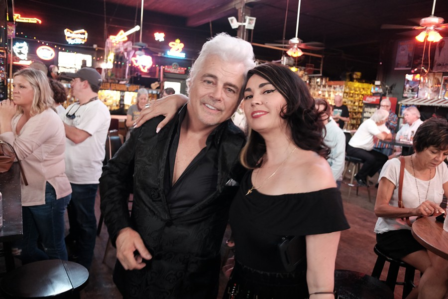 "Dale Watson and Celine Lee at the ""Puttin' Down Roots Party."" - MICHAEL DONAHUE"