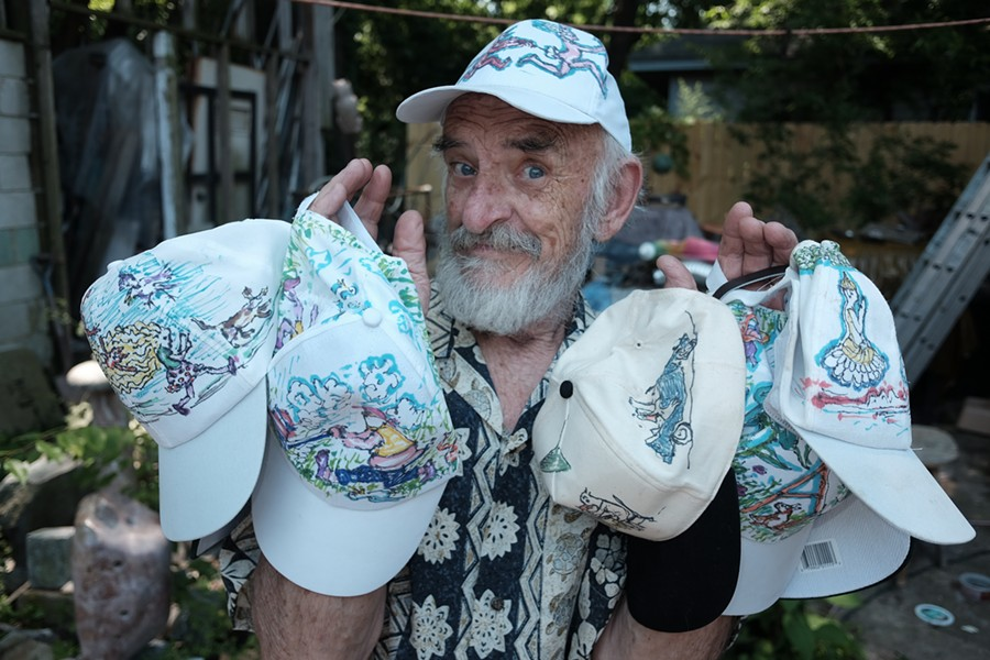 John McIntire and his caps of many colors. - MICHAEL DONAHUE