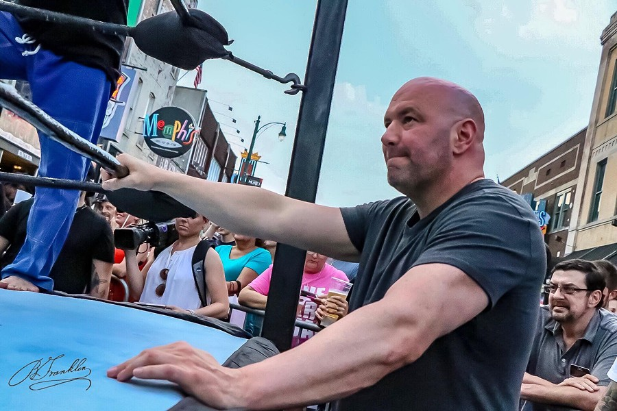 UFC president Dana White ringside on Beale Street. - DREADHEAD KEV