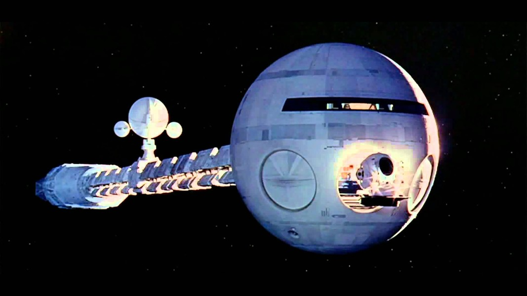 The Discovery on its way to Jupiter in 2001: A Space Odyssey