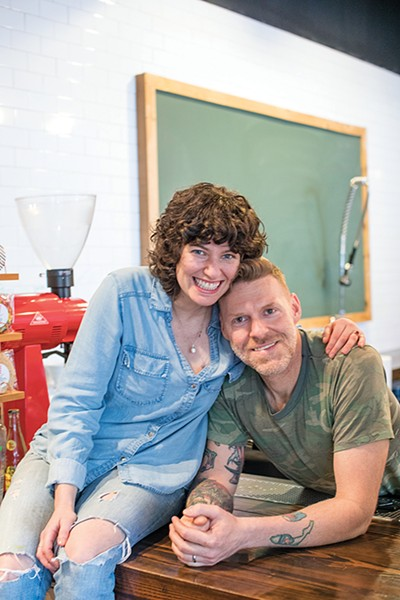 Baily Biggers (left) and David Pender of Low Fi Coffee - PHOTOGRAPHS BY JUSTIN FOX BURKS