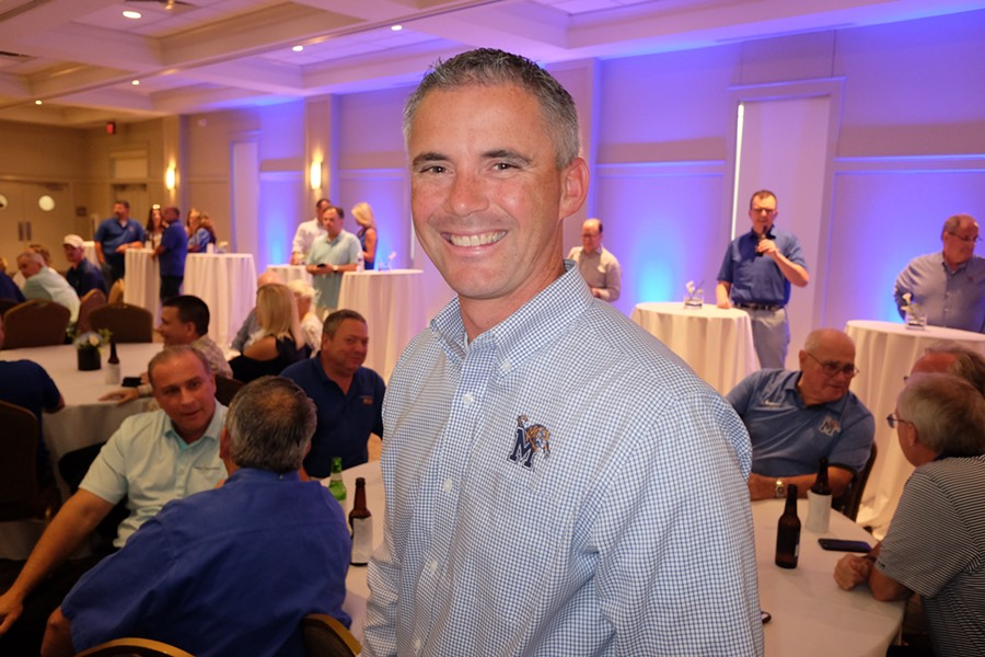 Mike Norvell at Highland Hundred football kickoff party, - MICHAEL DONAHUE