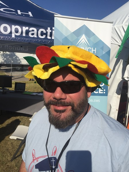Jeff Ayers at Burger Fest - MICHAEL DONAHUE