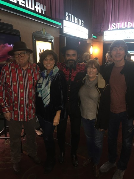 "Van Duren, Vicki Lovelace, Wade Jackson and Diana and Jody Stephens at a showing of ""Waiting: The Van Duren Story"" at Malco Ridgeway. - MICHAEL DONAHUE"