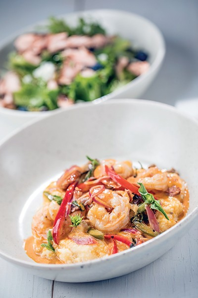 Shrimp & grits; meatballs