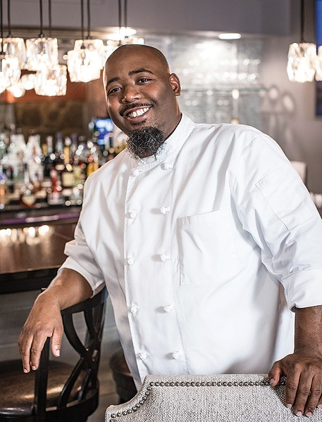 Christopher Hudson, chef at the newly opened Mahogany - PHOTOGRAPHS BY JUSTIN FOX BURKS