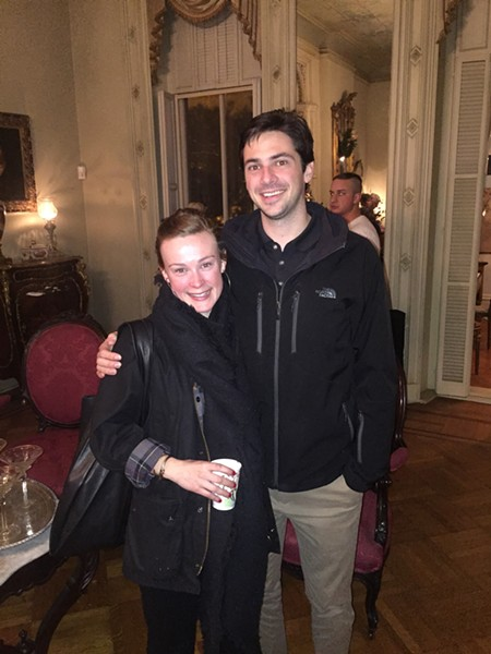 Lees Romano and Alden Knipe at Woodruff-Fontaine Victorian Open House. Both Woodruff-Fontaine and Mallory Neely held open houses on the same night, which was Dec. 2. - MICHAEL DONAHUE