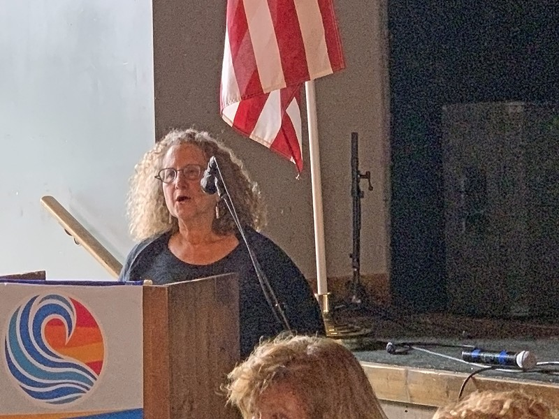 Hedy Weinberg at Rotary Club of Memphis - JB