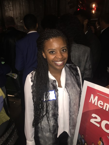Josalynne Love, one of the honorees, at the 20 Under 30 reception. - MICHAEL DONAHUE
