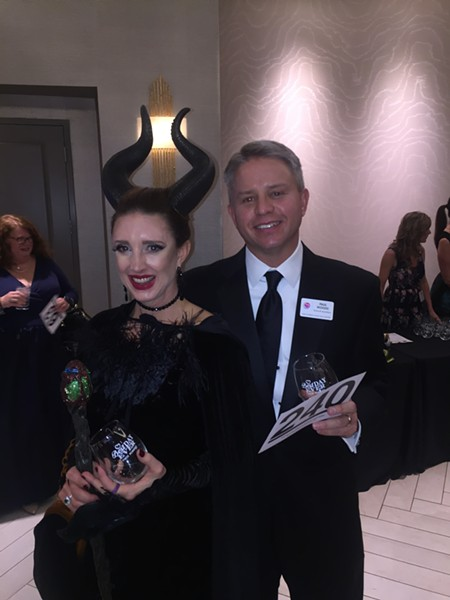 Christine and Page Robbins Adult Day Center board president Paul Woods at the Page Robbins Winter Gala. - MICHAEL DONAHUE