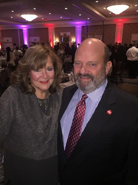 Lynn and Ernie Mellor at Memphis Restaurant Association banquet. - MICHAEL DONAHUE