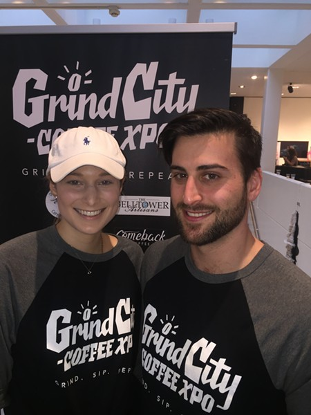 Kathleen Williams and Mats Jaslo at Grind City Coffee Expo. - MICHAEL DONAHUE