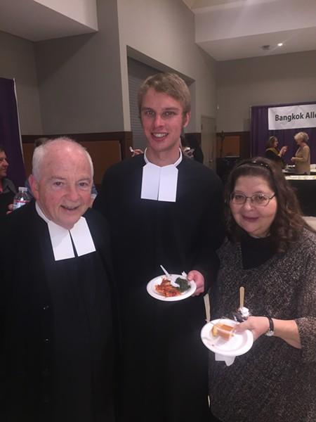 Bro. Joel McGraw, Bro. Mark Engelmeyer and Gery Taulman at A Taste of CBHS - MICHAEL DONAHUE