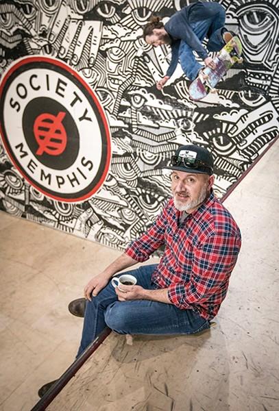 Mark Horrocks, co-owner of Society Skatepark & Coffee - JUSTIN FOX BURKS