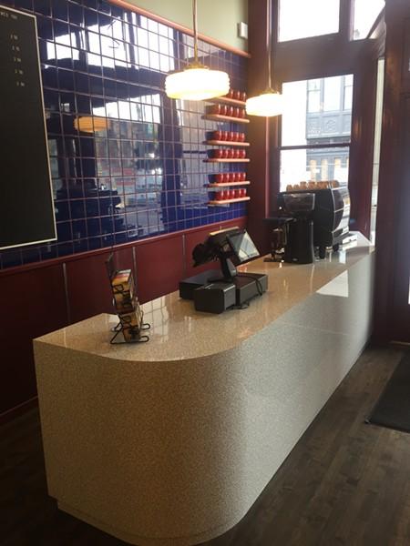 The coffee bar. - MICHAEL DONAHUE