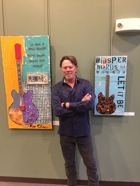 Ron Olson exhibited his paintings at St. George's Arcade. Guests got first dibs on buying antiques, plants, and home decor items at the preview party, which was held April 26th at St. George's Episcopal Church in Germantown. - MICHAEL DONAHUE