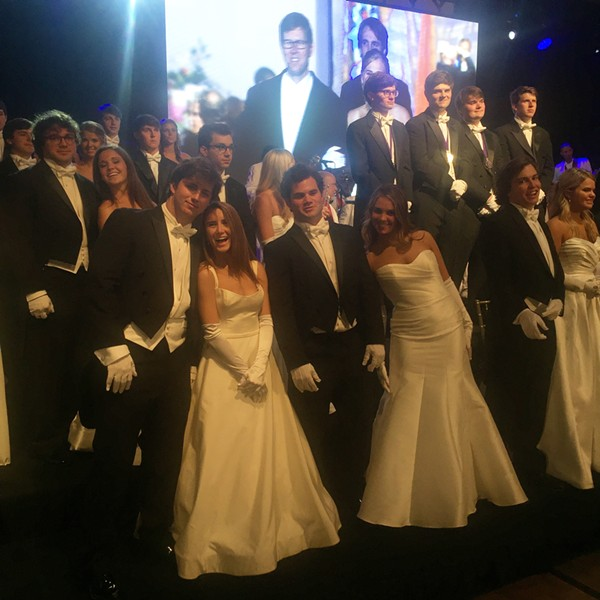 Carnival Memphis Royal Court members at the Crown & Sceptre Ball. - MICHAEL DONAHUE