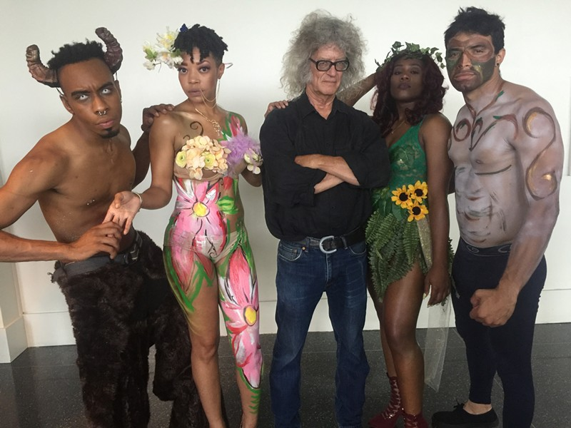 """HotHouse Gruv (everybody in the photo except the guy in the black shirt) performed at the opening reception for """"Bouguereau & America"""" at Memphis Brooks Museum of Art. - MICHAEL DONAHUE"""