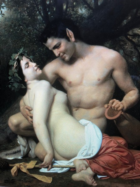 """""""Faun and Bacchante"""" by  William-Adolphe Bouguereau"""