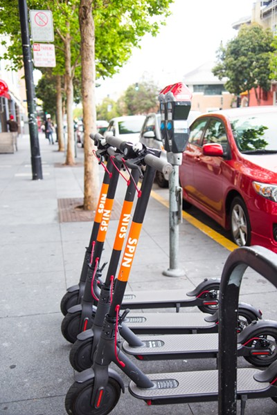 Spin scooters hit the Memphis streets this week - SPIN