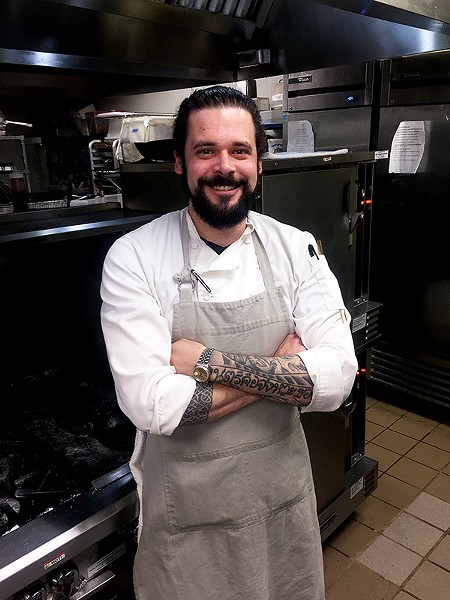 "Keith Clinton, chef de cuisine at Erling Jensen: The Restaurant, will compete on ""Guy's Grocery Games."" - MICHAEL DONAHUE"