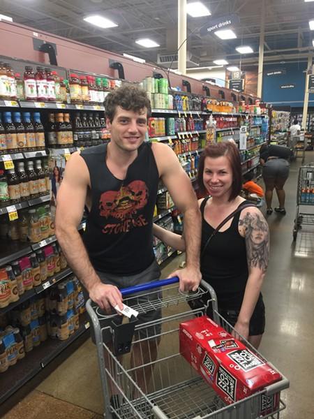Edgar Bounds and Desiree Ramacus-Bushnell at Kroger on Mendenhall - MICHAEL DONAHUE