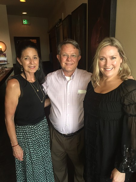 Darlene Winters, Sancy Schaeffer, and Napa Cafe owner Glenda Hastings at Stepping Out at Napa Cafe - MICHAEL DONAHUE