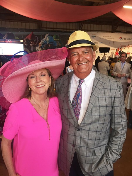 Jenny and Nick Vergos at the Southern Reins Center for Equine Therapy's Jockeys & Juleps fund-raiser in 2019. - MICHAEL DONAHUE