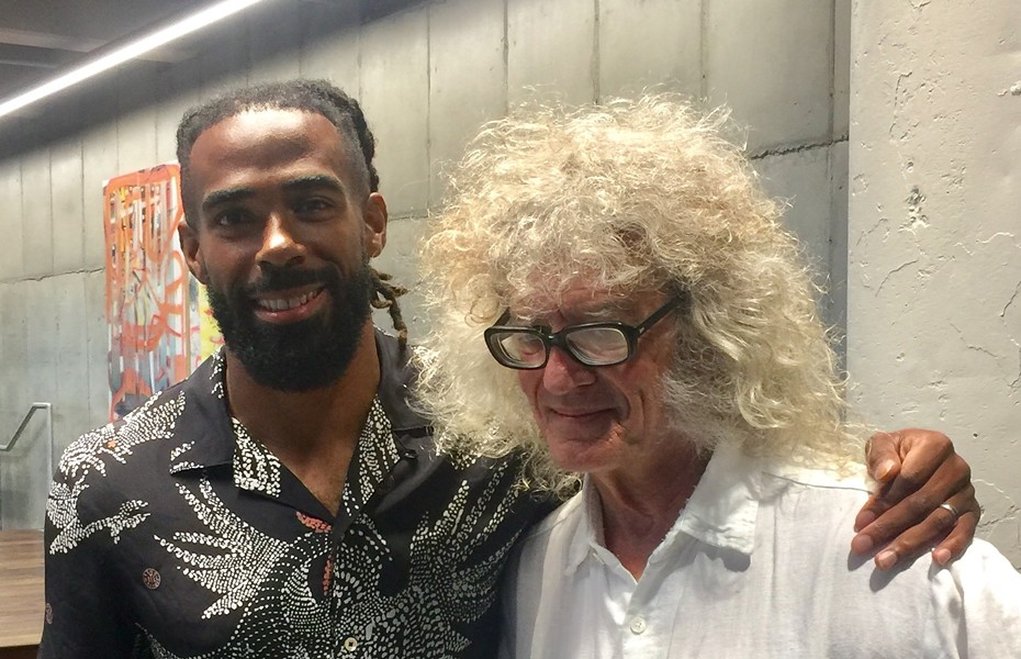 """Mike Conley and another guy who sometimes goes by """"MIke"""" and is a big fan. - CAMERON MANN"""