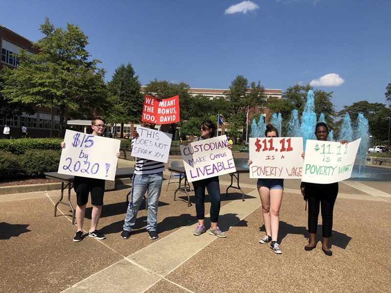 Students demand living wage for all campus workers - MAYA SMITH