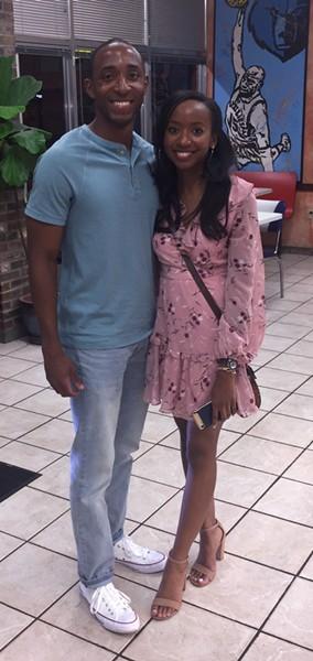 Moses Parker and Kayla Washington at Gibson's Donuts. - MICHAEL DONAHUE