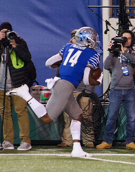 "Antonio Gibson on ""Antonio Gibson Day"" at the Liberty Bowl. - LARRY KUZNIEWSKI"