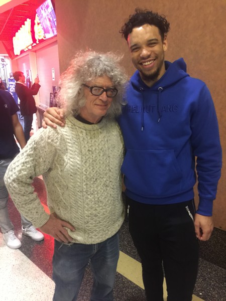 Dillon Brooks with a fan at the Grizz Bash