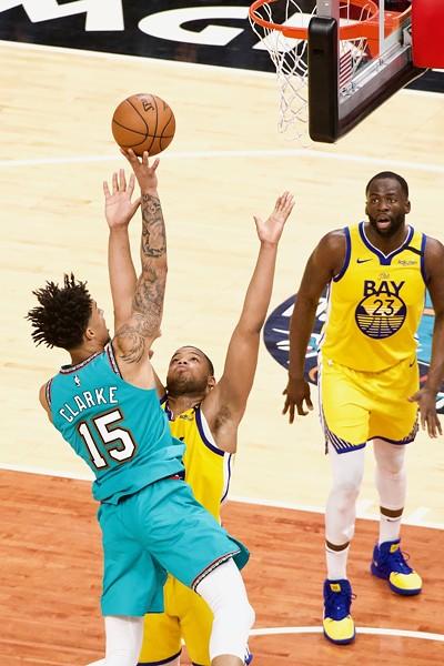 Brandon Clarke against the Golden State Warriors