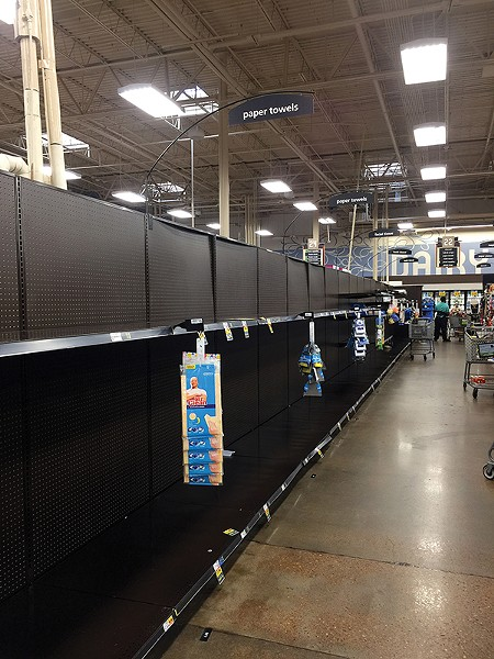 Kroger, Friday morning: - Hoarding isn't necessary, but it's best to be prepared for a two-week quarantine.