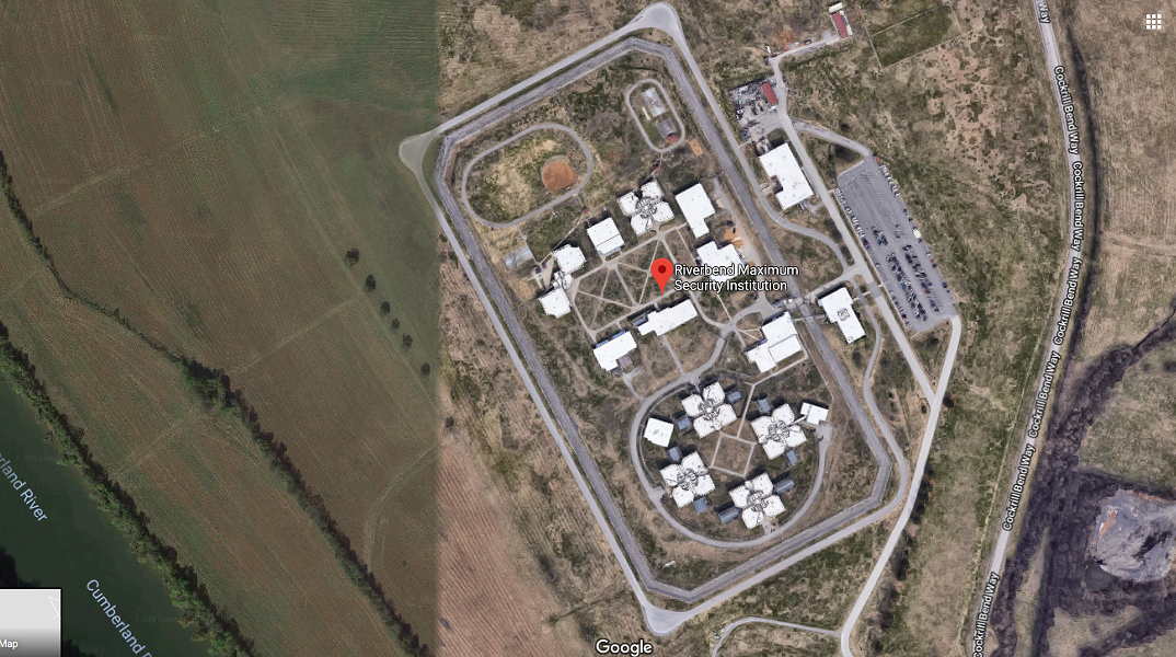 Riverbend Maximum Security Prison in Nashville is home to Tennessee's death row. - GOOGLE MAPS