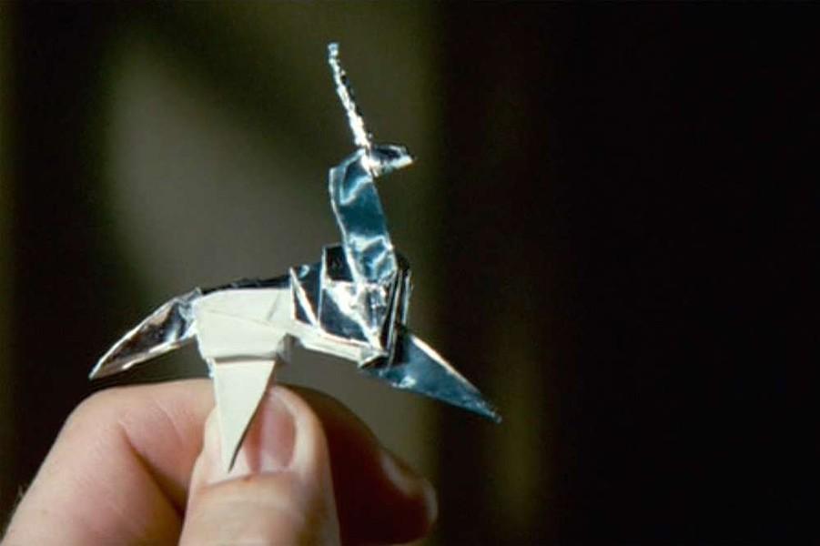 The infamous origami unicorn.