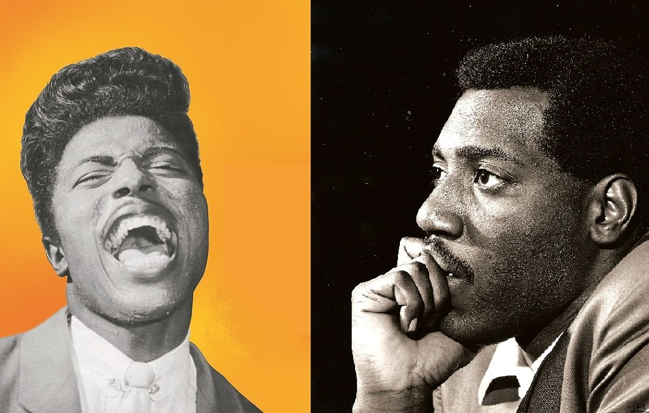 Little Richard & Otis Redding - (L) COURTESY SPECIALTY ARCHIVES; (R) BY JEAN PIERRE LELOIR