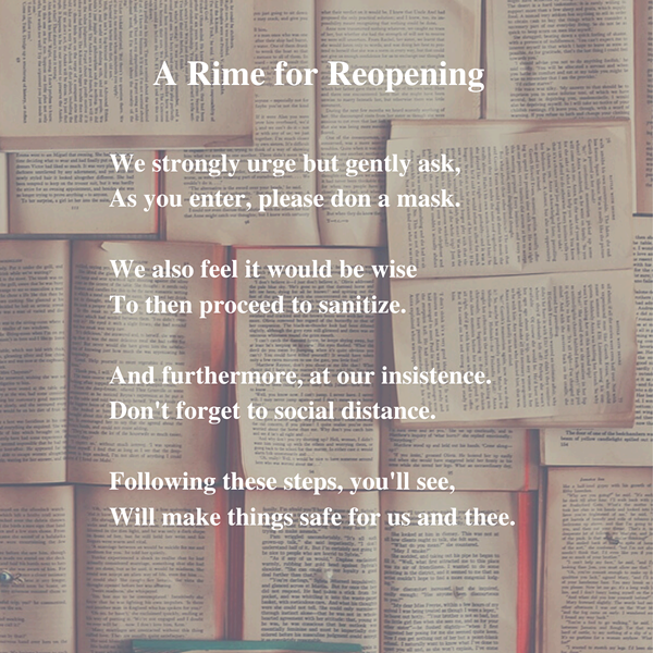 Burke's posted this message to its social media pages to help customers remember to practice social distancing while shopping. - BURKE'S BOOK STORE