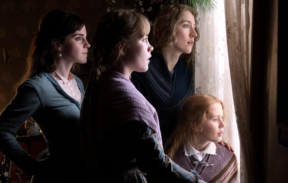 The March sisters: Meg (Emma Watson), Amy (Florence Pugh), Jo (Saoirse Ronan), and Beth (Eliza Scanlen)