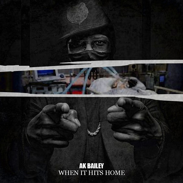 """Kapone's son, Young AJ, designed the cover for Kapone's new single, """"When It Hits Home.' - NATHAN BLACK"""