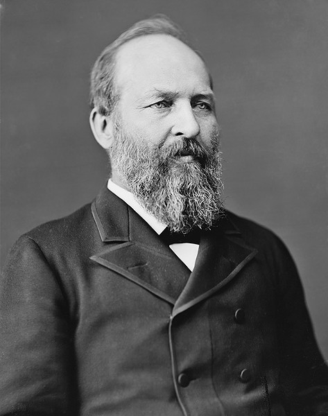 President James Abram Garfield - WIKIMEDIA COMMONS  |  LIBRARY OF CONGRESS' PRINTS AND PHOTOGRAPHS DIVISION