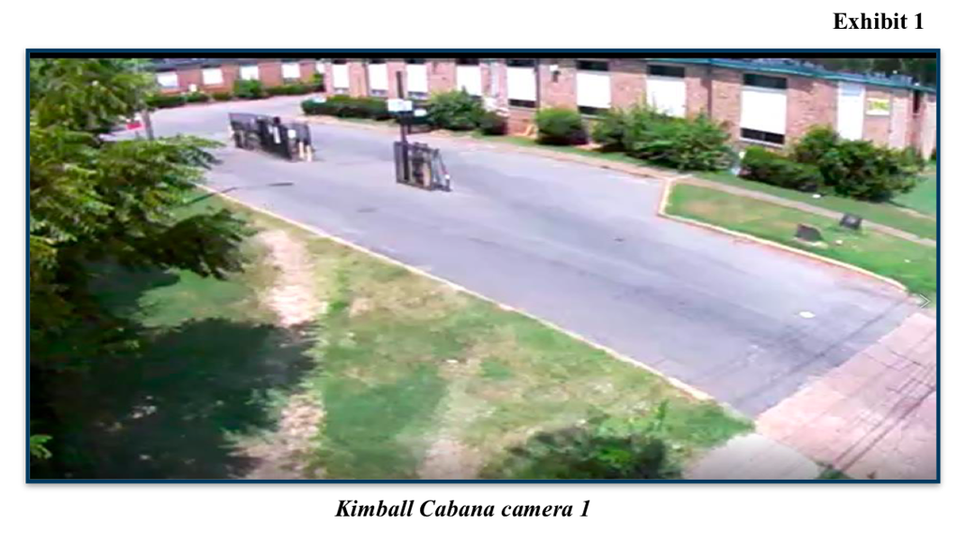 Surveillance still from RRAL's Kimball Cabana site. - TENNESSEE COMPTROLLER OF THE TREASURY