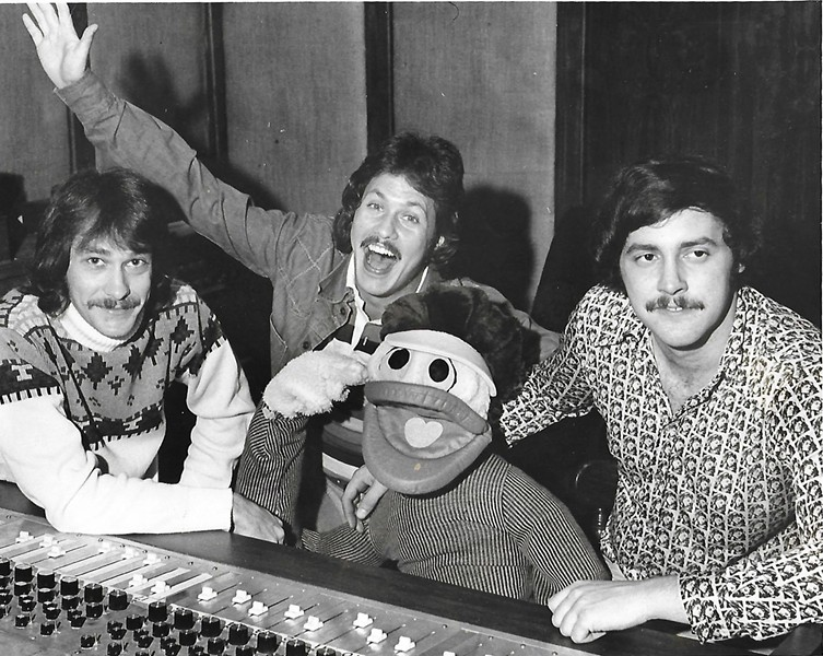 Bobby Manuel, Rick Dees, Wareen Wagner, and a Disco Duck. - COURTESY ANDY BLACK